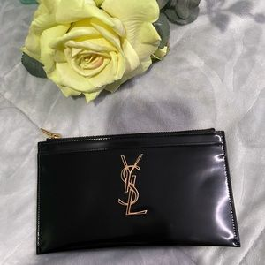 YSL Smooth Leather Bill pouch Black & Gold